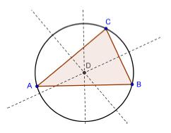 Circonferenza circoscritta al triangolo