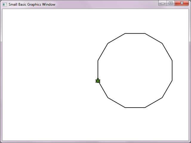 41 - Disegnare un poligono di 12 lati